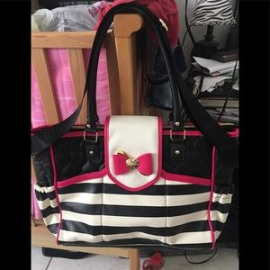 Betsey Johnson diaper bag or Can be use as a purse